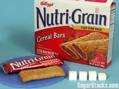Nutri-Grain Cereal Bar and Sugar