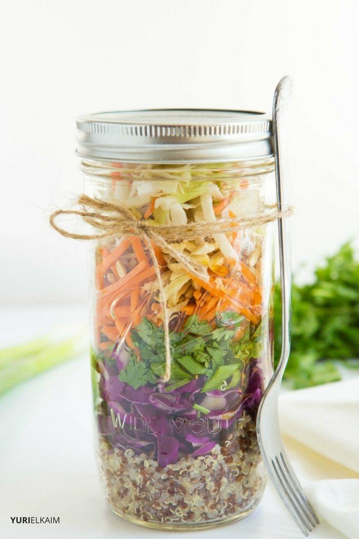 Asian Quinoa Mason Jar Salad