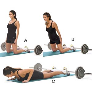 Woman performing Glute Ham Raise Exercise