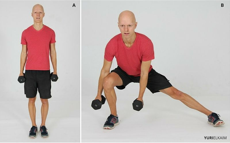 Lateral Dumbbell Lunges