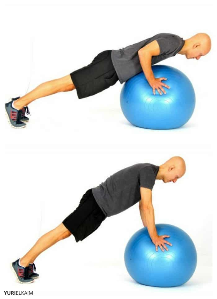Stability Ball Push-ups Sequence