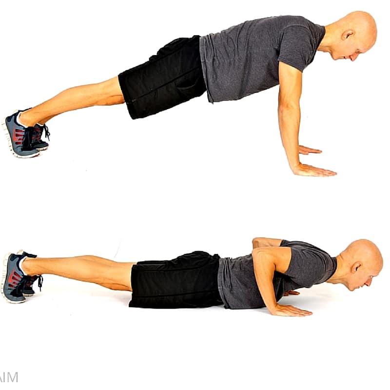 pushup uri și locuri pentru a pierde în greutate