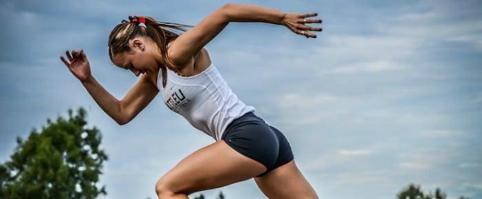 Woman doing HIIT sprints
