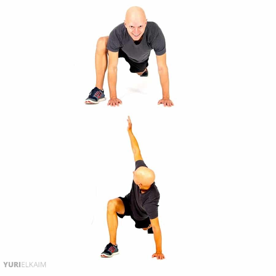 Dynamic Warm-up Exercises - Frog Walk-in Twist