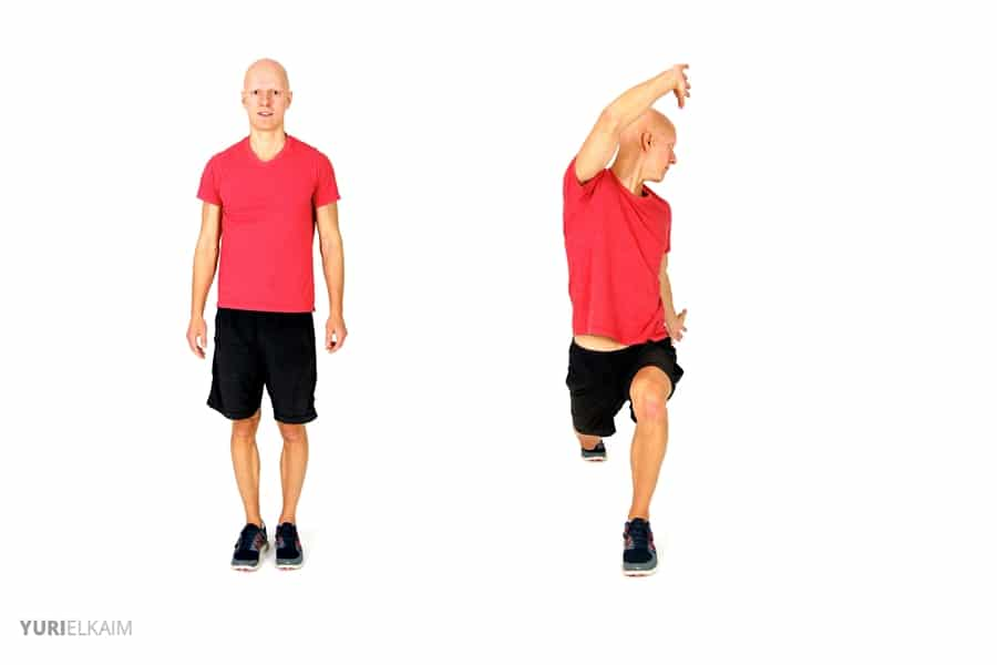 Dynamic Warm-up Exercises - Twisting Reverse Lunge