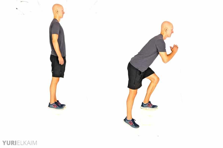 8 No-Equipment Bodyweight Exercises - Single-Leg Drop Squats