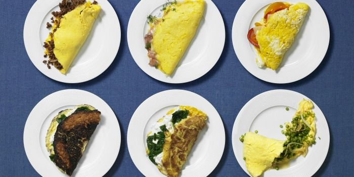 Different types of omelettes