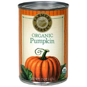 Can of pumpkin puree