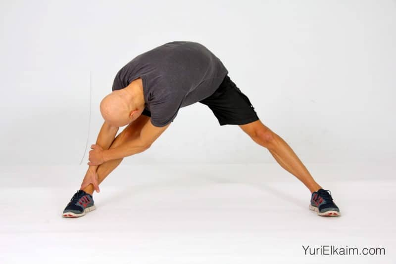 Stretches for Tight Hamstrings - Split Grab and Hold