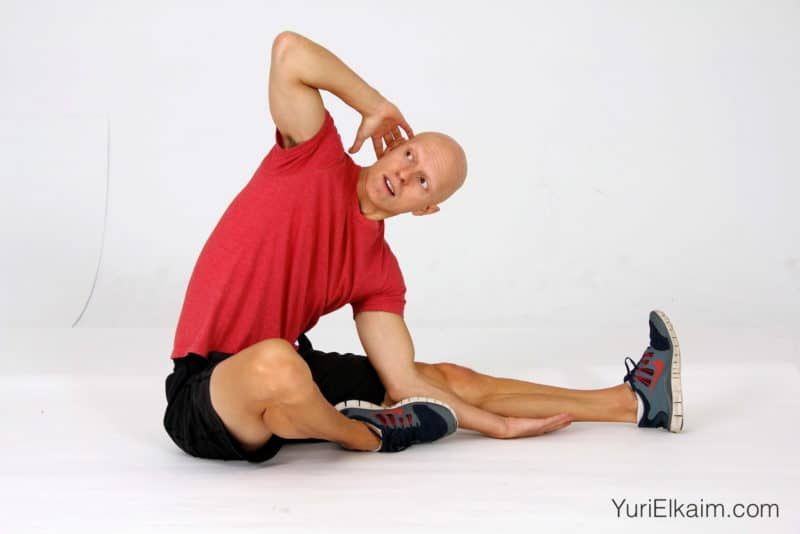 Stretches for Tight Hamstrings - Seated Twisting Hamstring Stretch