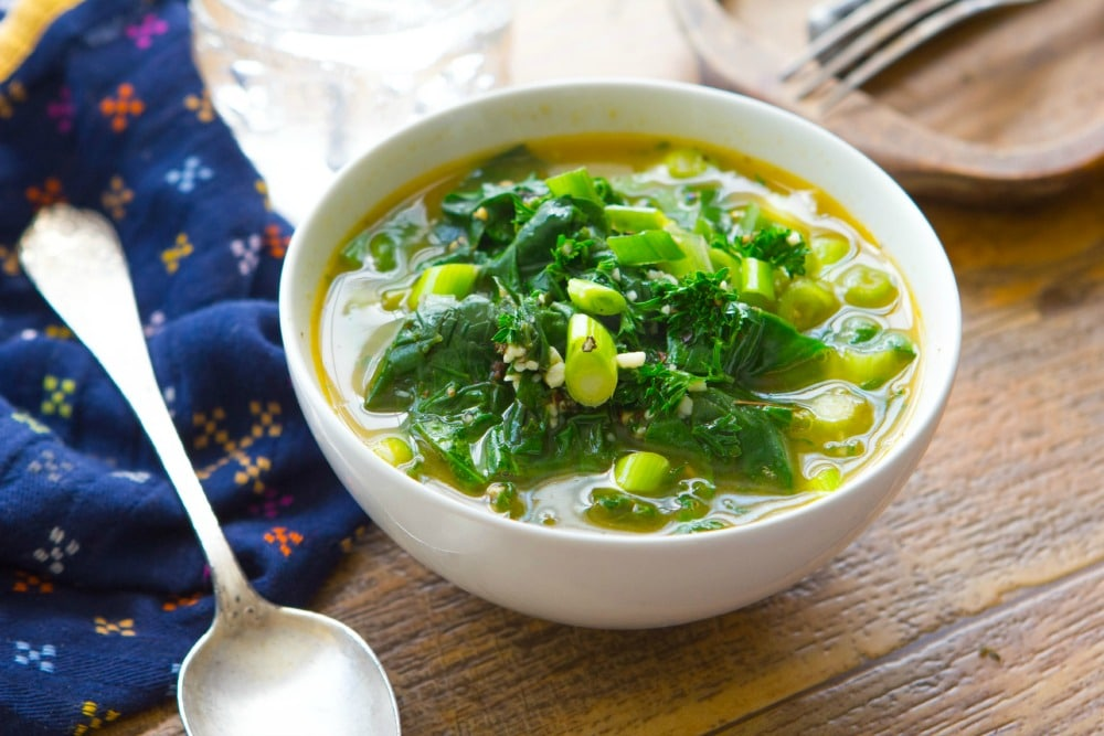 DAY 5- Garlic and Spinach Soup1SM