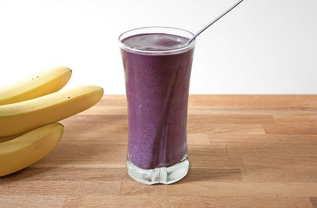 Post-Workout Smoothie - Blueberry Peanut Butter Smoothie