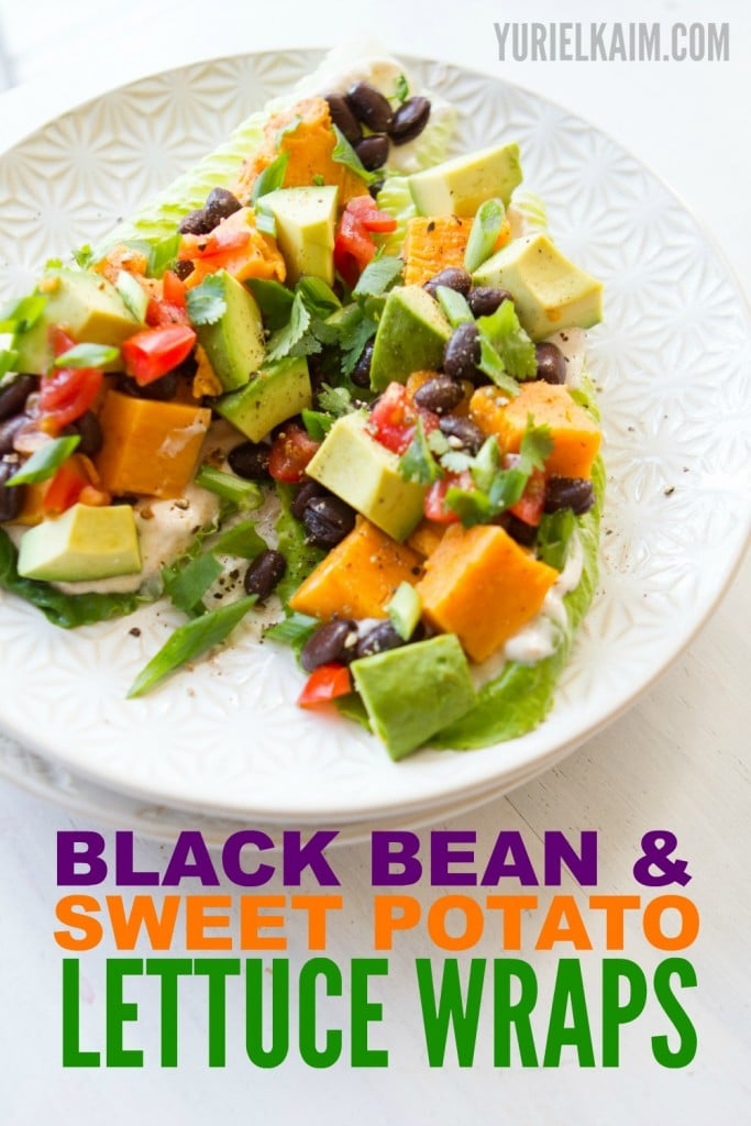 Taco Lettuce Wraps with Black Beans and Sweet Potato