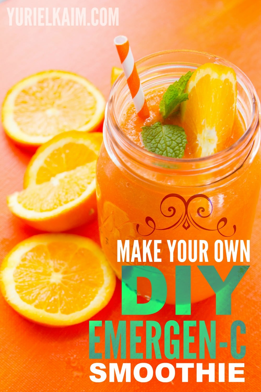 Make Your Own DIY Emergen-C Smoothie