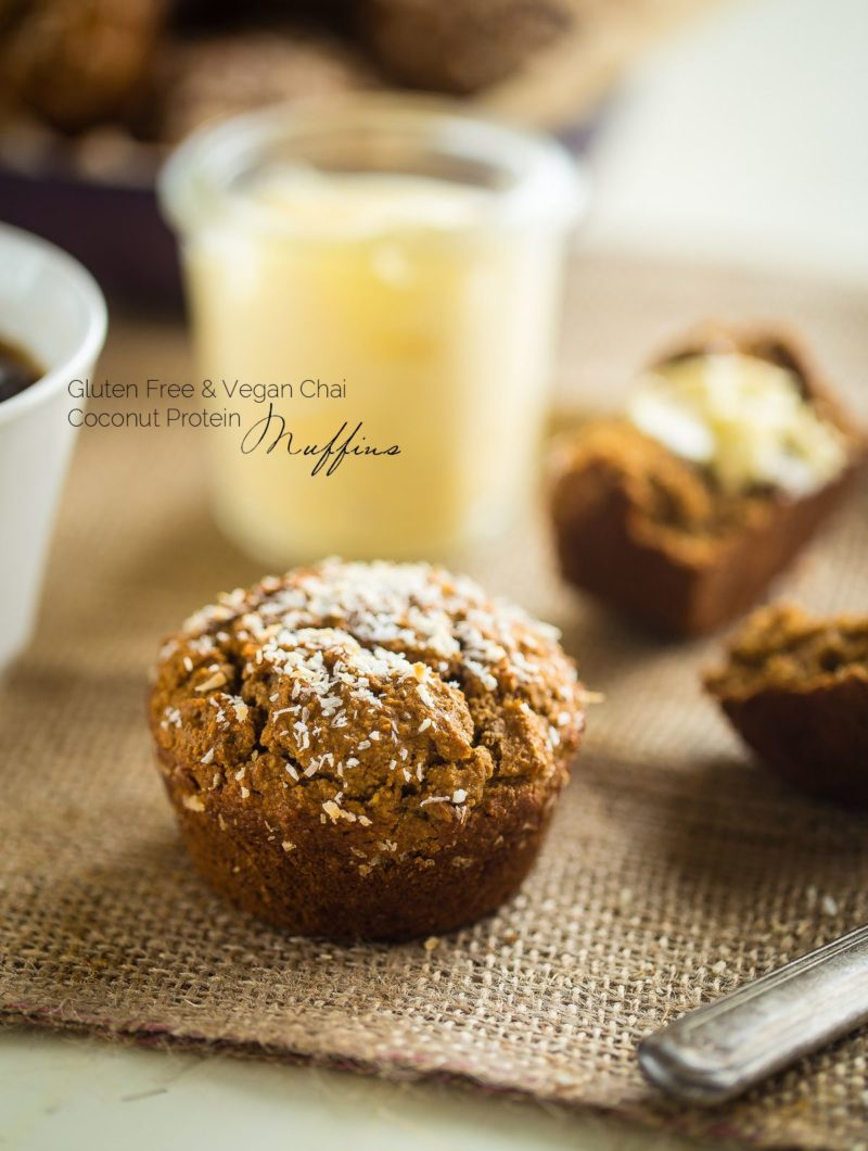 Chia Coconut Protein Muffins via Food Faith Fitness