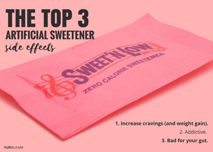 Top 3 Major Artificial Sweetener Side Effects