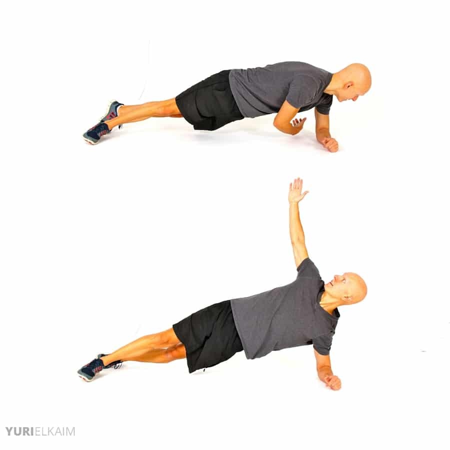 Push-Ups on a Ball - Twisting Side Planks