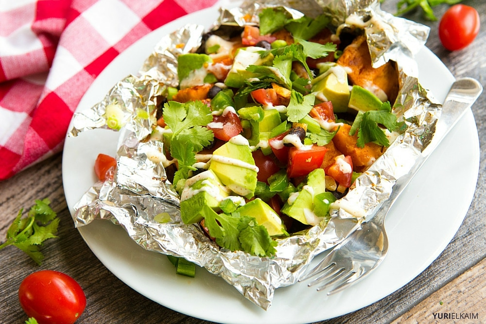 Chipotle BBQ Sweet Potato Foil Packs
