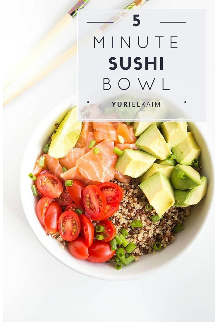 5-Minute Sesame Lime Quinoa Sushi Bowl