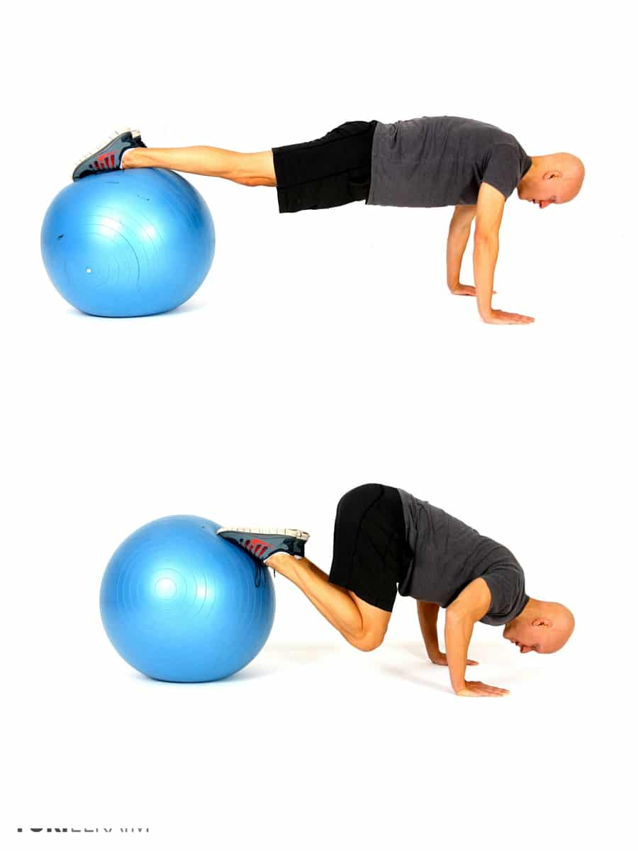 The Best Stability Ball Exercises for Core Training - Stability Ball Knee Tuck Push-ups