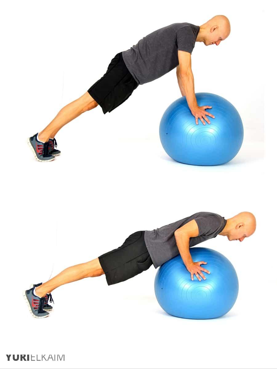 Push-Ups on a Ball - Push-Ups on a Ball