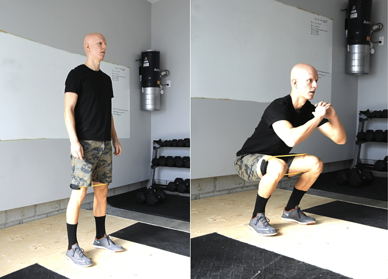Best Glute Exercises - Band-Resisted Hip Abduction Squats