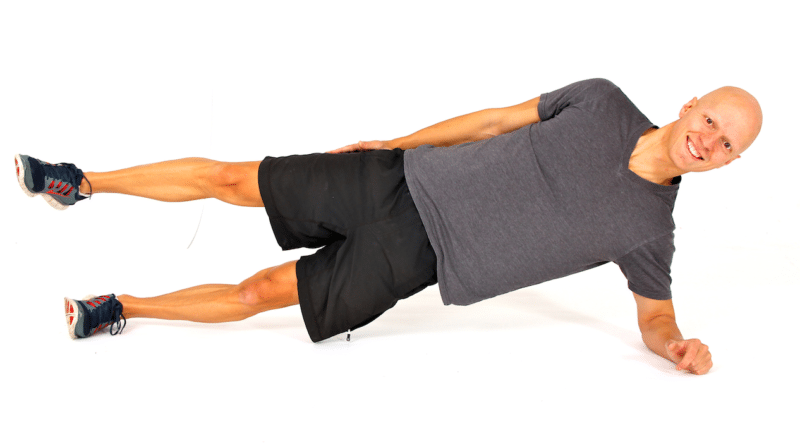 Best Glute Exercises - Side Plank with Leg Lift