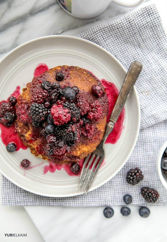 3-Ingredient High-Protein Pancakes