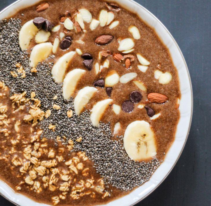 Mocha Protein Banana Smoothie Bowl
