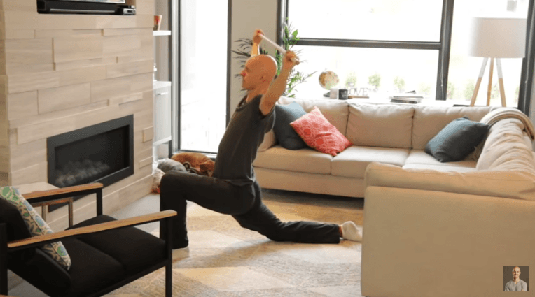 Overhead Lunge Stretch