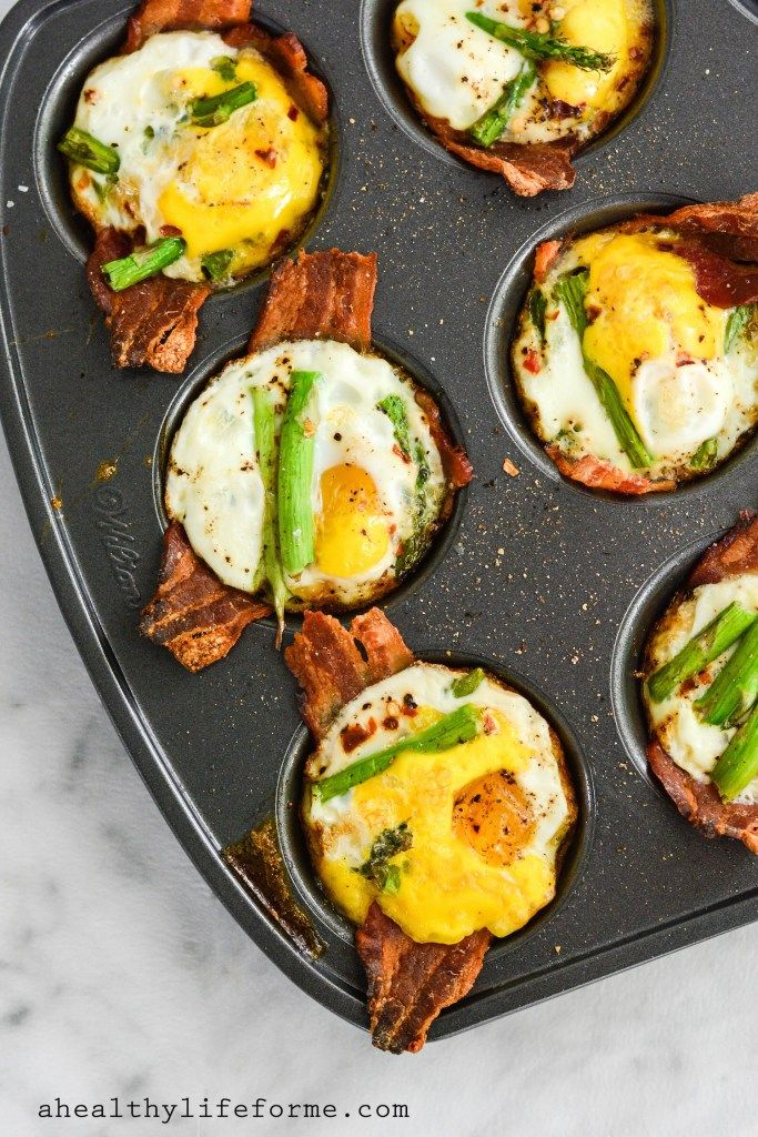Paleo Baked Egg Cups - A Healthy Life for Me