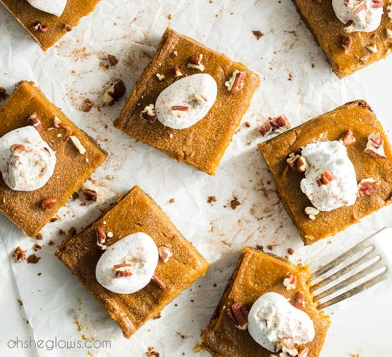 Pumpkin Pie Squares - Oh She Glows