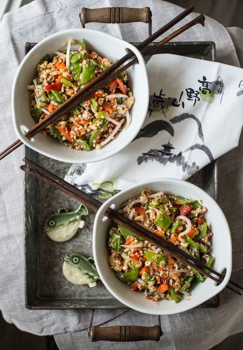 Raw Veggie Rice With Tamari Orange Sauce - Rawmazing