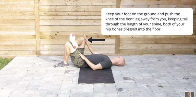 Thread the Needle Yoga Posture Fix