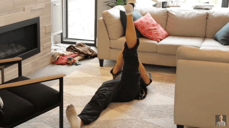 Yoga Strap Stretches - Lying Down Hamstring Stretch