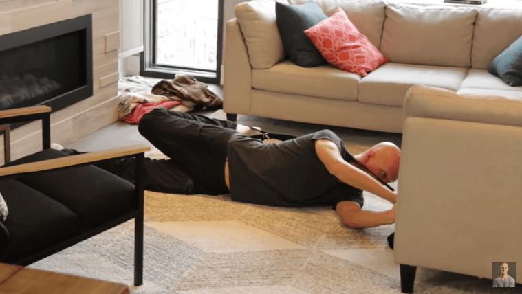 Yoga Strap Stretches - Lying Quadriceps Stretch