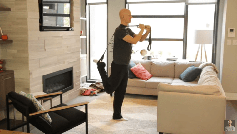 Yoga Strap Stretches - Quadriceps Stretch