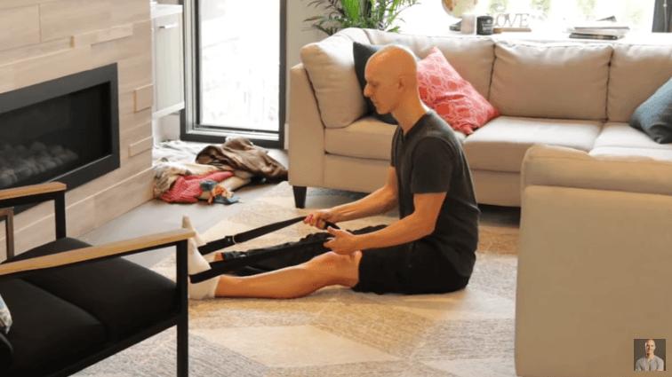 Yoga Strap Stretches - Seated Hamstring stretch