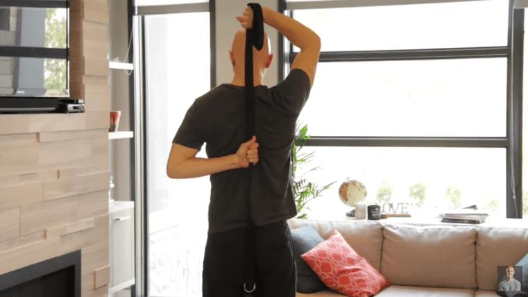 Yoga Strap Stretches - Shoulder-Triceps-Upper Back Opener