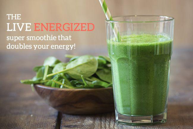 Green Energy Machine Smoothie - Live Energized