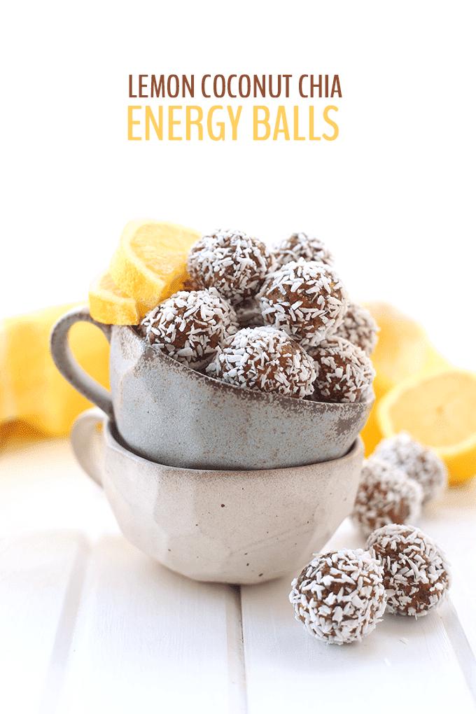 Lemon Coconut Chia Energy Balls via The Healthy Maven