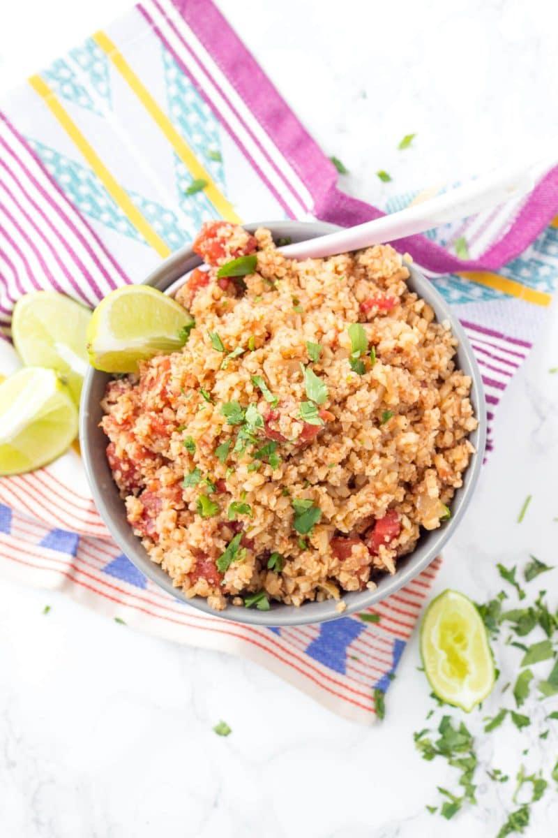 Mexican Cauliflower Rice - Wicked Spatula