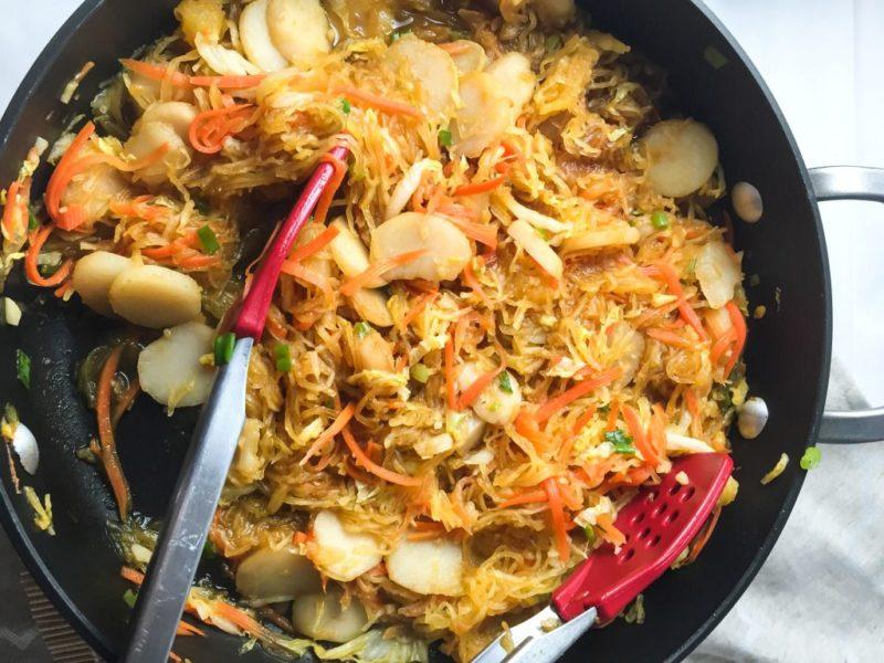 Spaghetti Squash Chow Mein via Petite Canteen