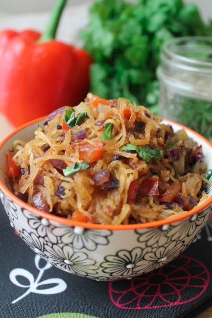 Spicy Spaghetti Squash Stir-Fry via The Honor System