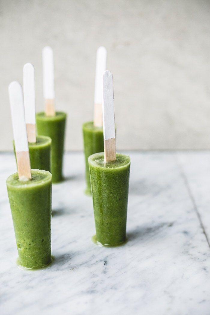 Green Smoothie Detox Pop via Top with Cinnamon