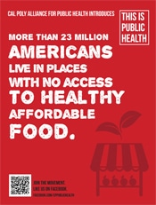 Healthy Affordable Food Poster