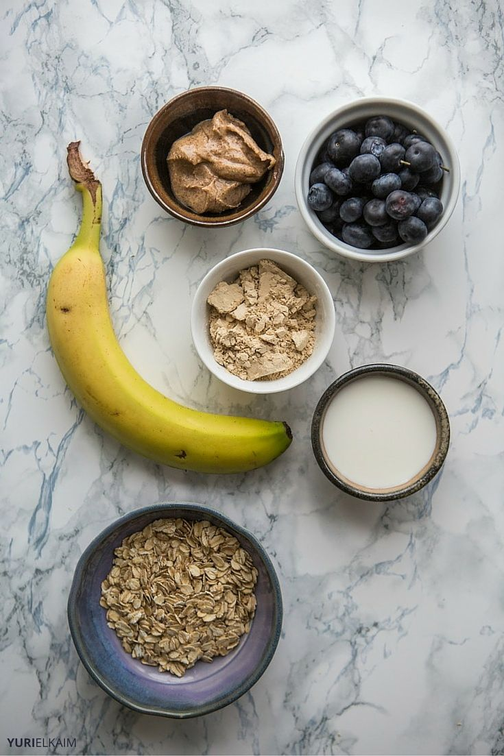 Ingredients for Banana Oat Smoothie