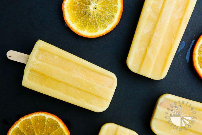 Orange Julius Popsicle via Vegetarian Gastronomy