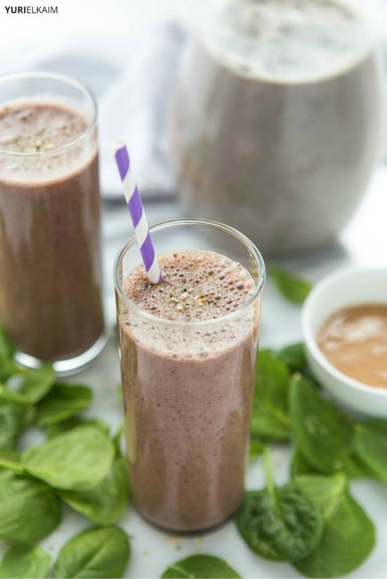 Peanut Butter and Cherry Protein Shake