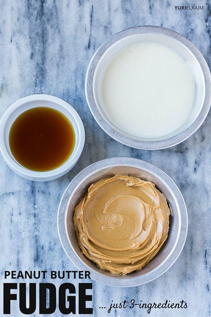 Three Ingredient Peanut Butter Fudge